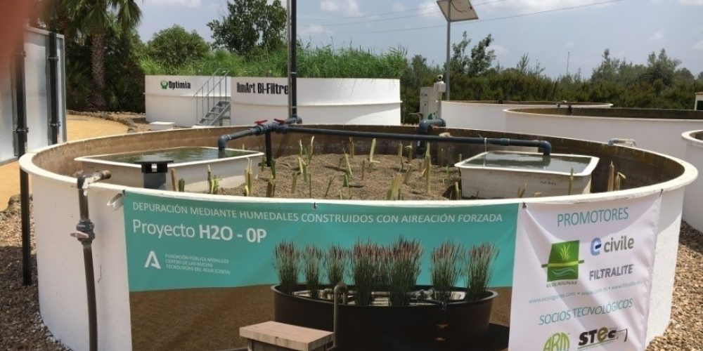 Forced aeration Constructed Wetland with Filtralite-P substrate for phosphorus removal prototype